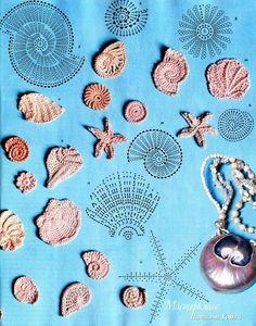 @ Af's  28/1/13 Shells - cute appliques  ;-)   #crochet
