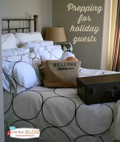 Prepping for Holiday Guests   Here are a few tips for getting your guest room ready for holiday guests. You'll find a list of tips to make your guest room a mini oasis. See more on TodaysCreativeLife.com