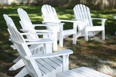 Fixing Up and Painting Adirondack Chairs - The Year-Long Project | May Richer Fuller Be