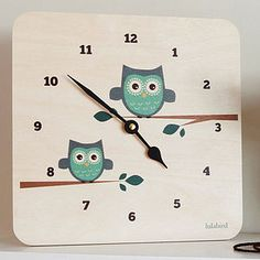 Lula Owl Wall Clock Gorgeous, fun and quirky gifts for you and your home Hunkydory Home Owl Kitchen Decor, Owl Home Decor, Owl Bathroom Decor, Kitchen Ideas, Owl Clock, Handmade Lampshades, Owl Kids, Owl Canvas, Owls