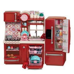 Our Generation Gourmet Kitchen Playset Accessories fits 18 inch American Girl Kitchen Ikea, Toy Kitchen, Real Kitchen, Kitchen Playsets, Awesome Kitchen, Og Dolls, Girl Dolls, Child Doll, Toys R Us