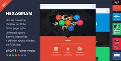 Amazing Flat Website PSD Templates download