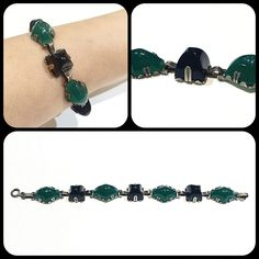 Sterling & Glass Bracelet c. 1920 $265
