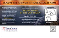 Church Postcard - End Times Signs - Outreach Marketing