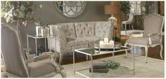 Sophistication, grace and style via Uttermost furnishings. Visit the Haley's Flooring and Interiors store and see the selections.