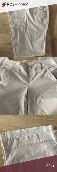The Limited Khaki Pants EUC/Limited khaki pants/wide leg and bottom/small stain to inside cuff of leg (see pic)/NS The Limited Pants