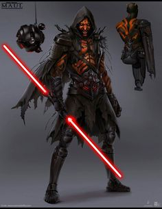 Concept art for the canceled Darth Maul video game has surfaced online, showing new Star Wars Sith and Jedi characters. Star Wars Film, Star Wars Rpg, Star Wars Poster, Star Wars Darth, Darth Maul Clone Wars, Star Trek, Darth Maul Lightsaber, Custom Lightsaber, Star Wars Concept Art
