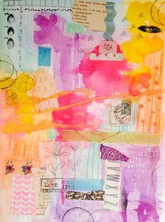 color blocks: glowing watercolor