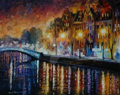 This is an oil painting on canvas by Leonid Afremov made using a palette knife only. You can view and purchase any painting here -afremov.com/AMSTERDAM-AUTUMN-R… Use 15% discount coupo...