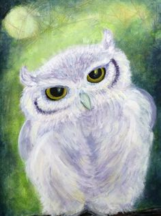 Snowy Owl Paintings | Snowy Owl Painting - Snowy Owl Fine Art Print