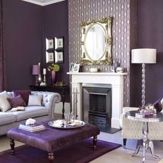 Home Decorating Style 2020 for 49 Best Of Purple Living Room Decor Ideas, you can see 49 Best Of Purple Living Room Decor Ideas and more pictures for Home Interior Designing 2020 3515 at Home To. Living Room Green, Living Room Paint, Living Room Decor, Purple Home, Grey Purple Paint, Gray Paint, Purple Walls, Dark Purple, Salons Violet