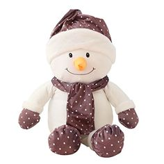 Sunny World Cuddly Christmas Purple Snowman Toy  354 Stuffed Cushion Plush Doll Toys Valentine Gift Graduate Gift Fiesta Toys for Girlfriend Children and Friends ** Details can be found by clicking on the image.