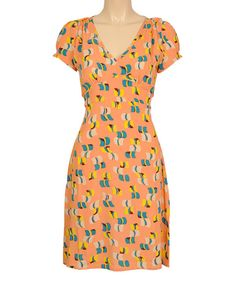 Look at this Louie et Lucie Reef Orange Calypso Georgina Cap-Sleeve Dress on #zulily today!