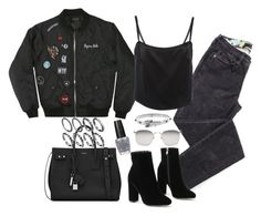"""""""Untitled #1809"""" by breannaflorence on Polyvore featuring Linda Farrow, Yves Saint Laurent, Michael Kors and OPI"""