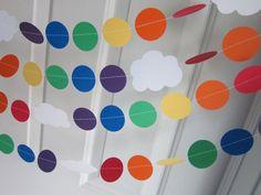 Rainbow Garland Rainbow Party Paper Garland St. por SuzyIsAnArtist, $8.00