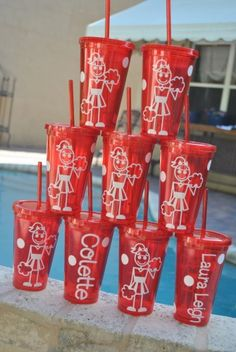 cheer tumblers make awesome team gift! we can do them in any color and personalize them in any way.