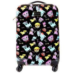 Betsey Johnson World Traveling Roller Luggage Handbag ($140) ❤ liked on Polyvore featuring bags and luggage