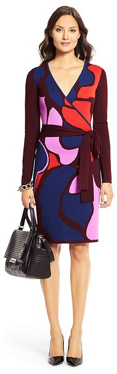 Linda Wool Wrap Dress... Can't handle the wool, but love the heavy weight wrap style and pattern