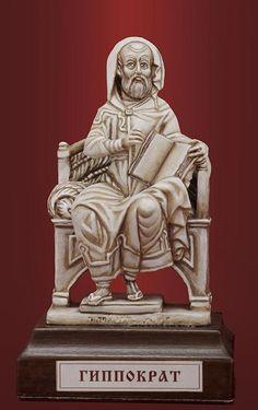 Врач Гиппократ. Роспись под кость. 070b