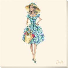 Barbie 'Market Day' print - Robert Best