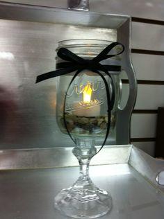 Mason Jar Candle Holders (idoonadimewaco.com)