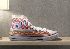 Tribal Aztec Painted Shoes Converse - Custom Made