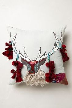 Boreal Forest Applique Pillow // Free Shipping TODAY ONLY!!