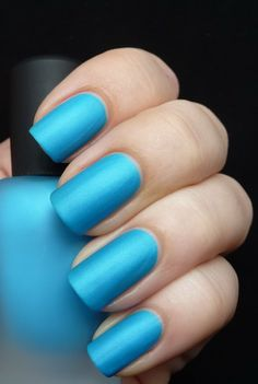 Zoya ~ Phoebe [ Zoya Mod Mattes Collection Summer 2011 ]  by AllYouDesire. 3 coats. #blue #matte #bluenailpolish #bluenails