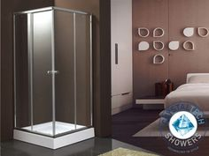 Marco Chrome Corner Entry Shower Enclosure offers a chrome frame, square shape, and a clear glass door to reflect your shower tile design. Shower Tile Designs, Tempered Glass Door, Tile Panels, Outdoor Tiles, Apartment Renovation, Shower Enclosure, Decorative Tile, Beautiful Bathrooms, Apartment Living