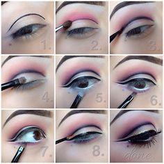 .@Jasmine Ann Jones | 1. First apply the liner this will be the guide line for the crease.(elf liqu... | Webstagram