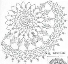 How to Crochet a Puff Flower Free Crochet Doily Patterns, Crochet Doily Diagram, Crochet Circles, Crochet Mandala, Filet Crochet, Irish Crochet, Crochet Doilies, Crochet Lace, Crochet Tablecloth