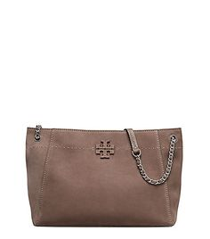 3295d160bf42fc TORY BURCH MCGRAW SUEDE CHAIN-SHOULDER SLOUCHY TOTE.  toryburch  bags   shoulder bags  hand bags  suede  tote
