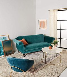 Anthropologie Cotswald Sofa | Scandinavian Interior Design | #scandinavian #interior