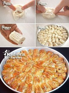 Shirred Baklava Recipe, How To - Womanly Recipes - Delicious, Practical and Most Delicious Recipes Site , Ramadan Desserts, Turkish Recipes, Ethnic Recipes, Most Delicious Recipe, Recipe Sites, Arabic Food, Desert Recipes, Eating Plans, International Recipes