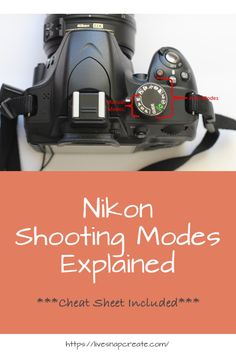 Everything you need to know about the Nikon DSLR camera modes.  Includes a free cheat sheet!!!  #photography #livesnapcreate