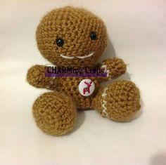 Crochet gingerbread man by me