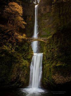 Les chutes de Multnomah dans l'Oregon