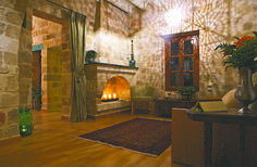 "EXCLUSIVE SUITES BOUTIQUE HOTEL. MEDIEVAL TOWN, RHODES, GREECE. - ""Katina"" suite. Living room. - kokkiniporta.com Rhodes Hotel, Medieval Town, 15th Century, Byzantine, Old Town, Modern Design, Greece, Hotels, Boutique"