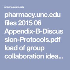 pharmacy.unc.edu files 2015 06 Appendix-B-Discussion-Protocols.pdf  load of group collaboration ideas with online modifications