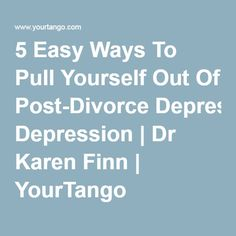 Post divorce dating rules