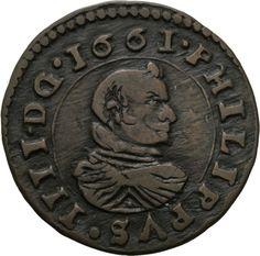 Künker: españa, Felipe IV, 16 maravedis, Trujillo, rara vez!