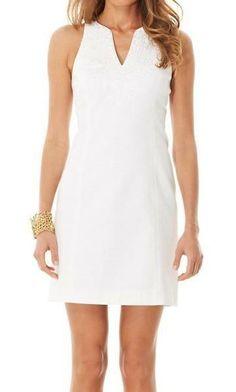 Lilly Pulitzer Gabby Shift Dress in Resort White