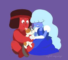 """crystal-meepmorps: """"Cat Steven and her tiny moms """" Cartoon Network Tv, Steven Universe Ships, Universe Images, Cat Stevens, Harry Potter Ships, Fair Games, Lapidot, Princess Of Power, Stronger Than You"""