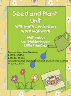 Seeds and Plants Unit with Mr. Potato Head Pieces!This unit contains vocabulary cards, seed exploration, planting seeds activities, growing grass, plant journal, parts of a plant craftivity with labels included. A very hands-on unit. Your students will love it!