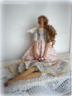"Tilda dolls handmade.  Fair Masters - handmade angel Provence (based on the ""Spring Angel"").  Handmade."