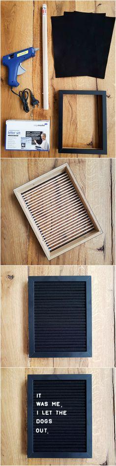 DIY Letterboard Tutorial | Wohnprojekt Blog