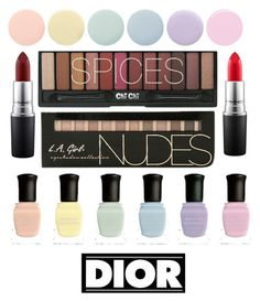 """""""Pastel"""" by crissie-cabrera on Polyvore featuring beauty, Deborah Lippmann, MAC Cosmetics and Christian Dior"""