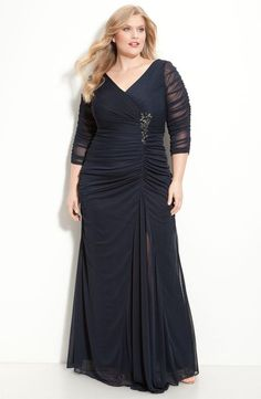 Stunning Hot Sale Plus Size Pleats Beaded A Line V Neck 3/4 Long Sleeves Zipper Chiffon Floor Length Party Prom Dresses Evening Gown Plus Size Dresses For Special Occasion Plus Size Dresses For Special Occasions Cheap From Charmingybridal, $75.43| Dhgate.Com