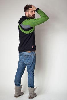 sorted+Männer+Hoodie+Streifen+im+Rückenteil+von+sorted-clothing+auf+DaWanda.com