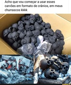 Skull shaped charcoal makes grilling more fun Memes Humor, Funny Memes, Nerd Memes, Candy Skulls, Cow Skull, Wtf Funny, More Fun, Cool Things To Buy, Geek Stuff